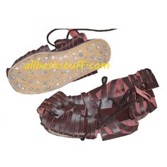 Medieval Roman Leather Caligae Sandals - Order larger.