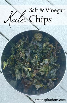 Salt & Vinegar Kale Chips, the crunchiest, tastiest, most addictive way to eat your greens!