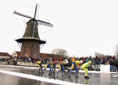 Elfstedentocht: done in the province of Friesland, route along 11 cities/villages, more than 200 kms long, ice has to be at least 15 cm thick (all 200 kms!), so this does not happen every year!