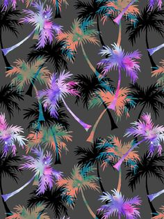 Falling Palms Art Print by SchatziBrown #tropical #palm #pattern #summer
