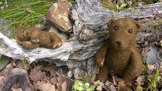 Plstěný medvídek, suchá metoda plstění jehlou, felt needl bear Teddy Bear, Toys, Animals, Animales, Animaux, Gaming, Games, Toy, Animais