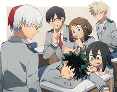 Boku no Hero Academia || Todoroki Shouto, Tenya Iida, Midoriya Izuku, Uraraka Ochako, Tsuyu Asui, Katsuki Bakugou.