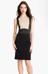 Tahari Sleeveless Colorblock Sheath Dress