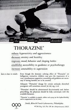 Thorazine for Disorderly Children