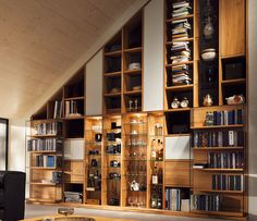 Modern Luxury Bookcases Shown In Oak And Gl