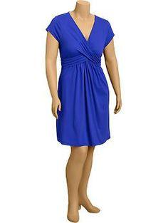 Womens Plus Cross-Front Dresses TALLA 1X