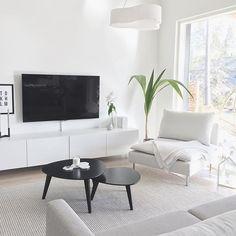 Bright and white, minimalist scandinavian living room