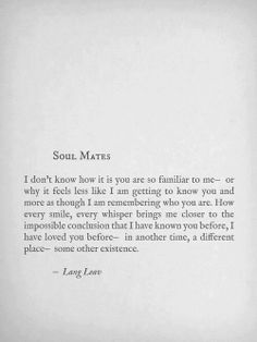 Soul mates... A reading for my wedding.