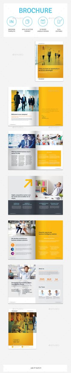 Business Brochure Template InDesign INDD. Download here: http://graphicriver.net/item/business-brochure-vol25/15024058?ref=ksioks
