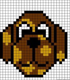 Dog #perler #bead #pattern http://mistertrufa.net/librecreacion/culturarte/?p=12