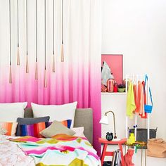Look at this beautiful urban chic style bedroom!