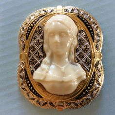 VINTAGE CELLULOID CAMEO Faux Ivory by SincerelyAlexisVTG on Etsy