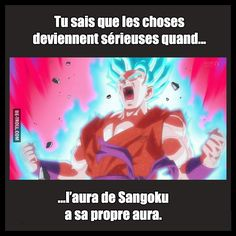 Tu sais que les choses deviennent sérieuses quand Dragon Ball C, Dragon Ball Z Shirt, New Dragon, Manga Anime, Goku Manga, Geeks, Photo Humour, Video Humour, Db Z