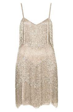 { beaded fringe dress }