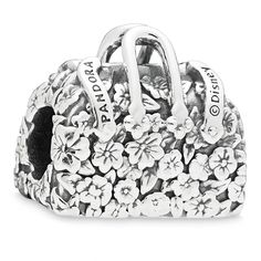 "PANDORA Disney, Disney Mary Poppins flower bag charm in sterling silver and engraving ""Mary Poppins"". Pandora Charms Disney, Disney Olaf, Mary Poppins, Pandora Bracelets, Pandora Jewelry, Lilo Und Stitch, Flower Bag, Silver Charms, Silver Jewelry"