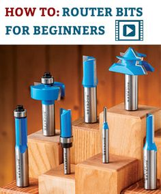 Router Bits at Rockler: Beading Bits Dovetail Bits & Cabinet Bits Woodworking Power Tools, Carpentry Tools, Woodworking Basics, Router Woodworking, Learn Woodworking, Woodworking Projects, Woodworking Furniture, Router Bits, Router Tool