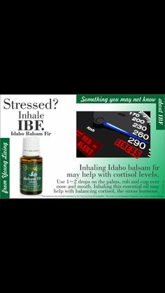 Idaho Balsam Fir decreases cortisol + decreases stress= decreased problems!!  Order here:https://www.youngliving.com/signup/?sponsorid=1492362&enrollerid=1492362 Distributor-premium starter kit and get a free reference guide! Purelivingoil@gmail.com to claim your gift!
