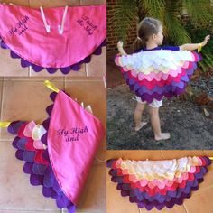 Bird Costume Kids, Octopus Costume, Couture Pour Halloween, Halloween Sewing, Sewing Projects, Diy Projects, Bird Theme, Paper Crafts Origami, Idee Diy