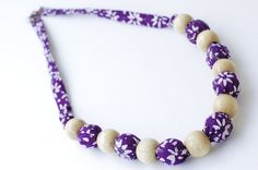 Bubbly Purple Necklace Batik Indonesia  www.prnik.com