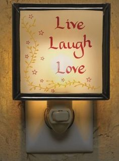The Country Porch features the Live Laugh Love Night Light from Park Designs. Country Valances, Cute Night Lights, Decorative Night Lights, Live Laugh Love, Home Look, Home Accents, Spice Things Up, Home Accessories, Looks Great