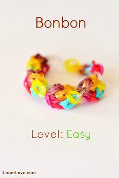 How to Make the Bonbon (easy level) for Rainbow Loom