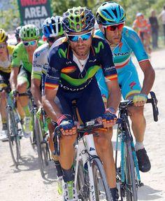 Simplemente: ALEJANDRO VALVERDE. #BalaRosa  #Giro ( @bettiniphoto) by movistar_team