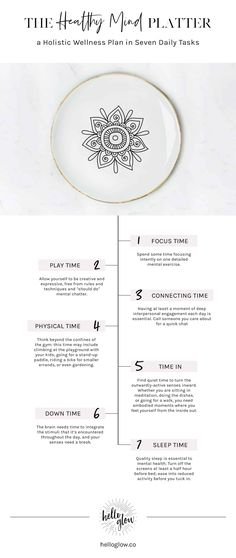 The Healthy Mind Platter: a Holistic Wellness Plan in 7 Daily Tasks