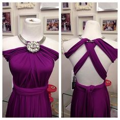 Henkaa convertible infinity dress worn with a collar necklace