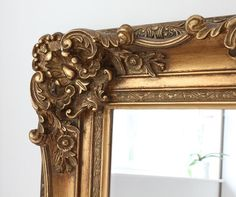 Gold ornate mirror from £150 at Out There Interiors