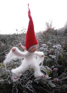 Elfis elf - waldorf felted doll. $26.00, via Etsy.