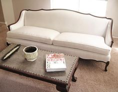 french provincial sofa french provincial sofa re upholstered contemporary living room antique french provincial sofa set Living Room Sofa, Living Room Furniture, Home Furniture, Living Room Decor, Furniture Outlet, Furniture Stores, Shabby Chic Furniture, Sofa Makeover, Wooden Sofa Designs