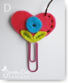 kids sewing projects, heart bookmark, valentines day @Tracy Whitney this is sewn but it could be glued
