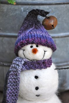 Snowman  Needle felted snowmen  20 by BearCreekDesign on Etsy