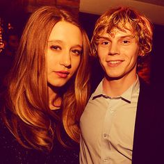 Taissa Farmiga & Evan Peters. American Horror Stories. LOVE THEM