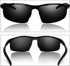 3237a92cee Duco Men s Driving Sunglasses Polarised Glasses Sports Eyewear Fishing Golf  Goggles 8177S (Black Frame