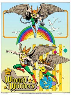 Hawkman and Hawkwoman by Jose Luis Garcia-Lopez. Marvel Dc Comics, Dc Comics Superheroes, Dc Comics Art, Dc Comics Characters, Comic Book Artists, Comic Books Art, Comic Artist, Justice League, Robert E Howard