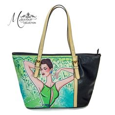A #glamorous tote #bag decorated with a gorgeous Marrero Illustration. #forsale $49 #inselly #fashion