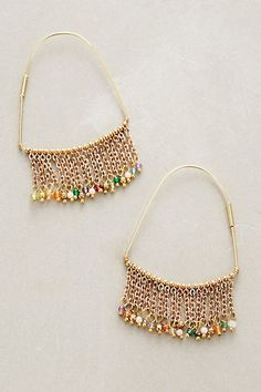 Luana Fringed Hoops #anthropologie Different. Interesting.