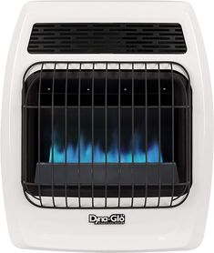 Dyna-Glo BFSS10NGT-2N 10,000 BTU Natural Gas Blue Flame Thermostatic Vent Free Wall Heater, White Best Space Heater, Indoor Electric Grill, Manual Juicer, Dust Extractor, White Appliances, Canister Vacuum, Wall Fans, Blue Flames, Queen Size Bedding