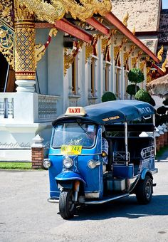 Tuk-tuk's are a fun and cheap way to get around Bangkok and Chiang Mai   http://www.travelnation.co.uk/thailand/