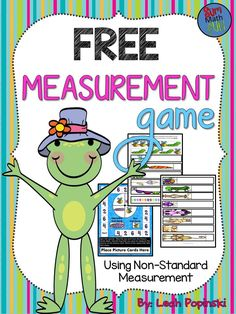 Free - Super cute graphics and lots of fun! Students practice non-standard measurement with caterpillars and bees. Just print, cut, laminate, and use year after year! Measurement Kindergarten, Measurement Activities, Math Measurement, Kindergarten Math, Teaching Math, Math Activities, Math Games, First Grade Measurement, Length Measurement