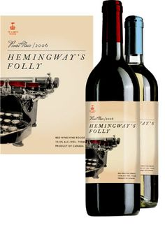 Hemingway's Folly Wine Label by Marie Hohner, via Behance PD