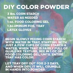 make your own hold powder tempera powder paint