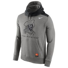 Pittsburgh Pirates Nike Cooperstown Collection Hybrid Pullover Hoodie - Gray