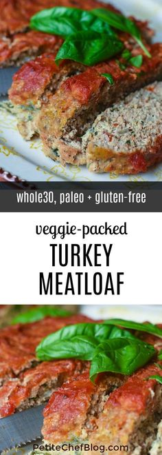Veggie-Packed Paleo Turkey Meatloaf – and Gluten-Free – Who said meatloa… Veggie-verpackter Paleo-Truthahn-Hackbraten – und Gluten-Free – Wer sagte, dass Hackbraten langweilig sein muss? Paleo Turkey Meatloaf, Veggie Meatloaf, Ground Turkey Meatloaf, Gluten Free Meatloaf, Whole 30 Meatloaf Recipe, Whole30 Meatloaf, Cooking Meatloaf, Homemade Meatloaf, Cake