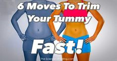 6 Moves To Trim Your Tummy Fast #Workout #weightloss #fit