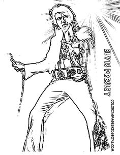 Elvis Coloring Pages Prepossessing Elvis Presley Hollywood Movie Star Coloring 01 At Coloring Pages .
