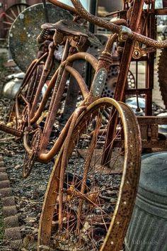 bikeengines-com: Vintage Schwinn rusty tandem bicycle Velo Retro, Velo Vintage, Vintage Bicycles, Old Bicycle, Old Bikes, Tandem Bicycle, Abandoned Buildings, Abandoned Places, Velo Tricycle