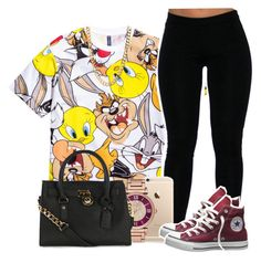 """""""9•1•15"""" by uniquee-beauty ❤ liked on Polyvore featuring moda, H&M, MICHAEL Michael Kors, Converse e Michael Kors"""