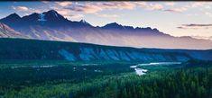 Alaska (Chugach Mountains and Matanuska River near Matanuska Glacier)